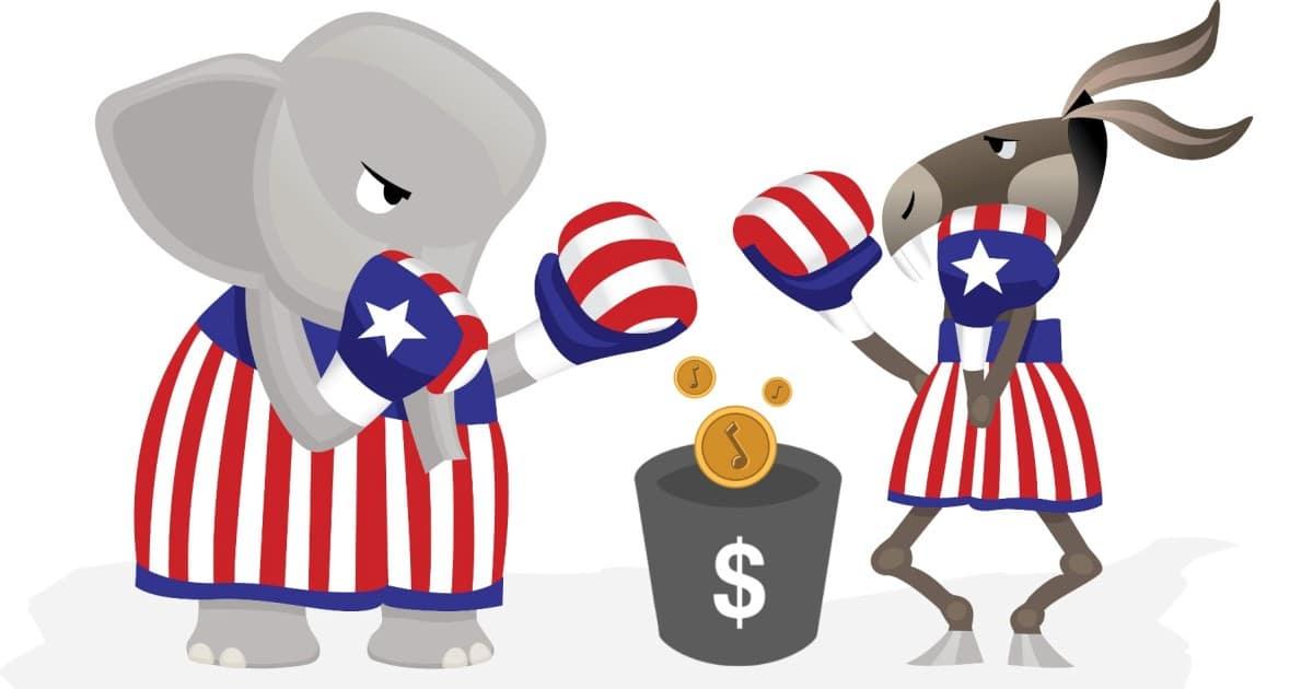 Republican v Democrat Tipping