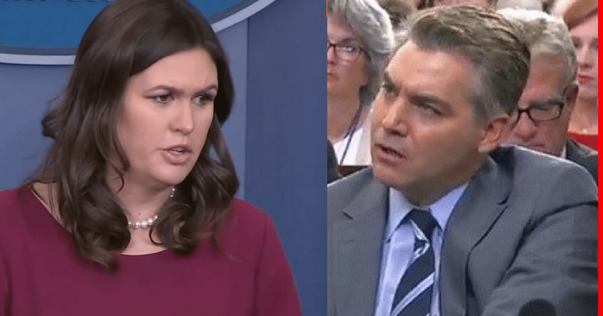 Sarah Huckabee Had Enough With CNN's Jim Acosta, Takes The Gloves Off, And Lets Him Have It